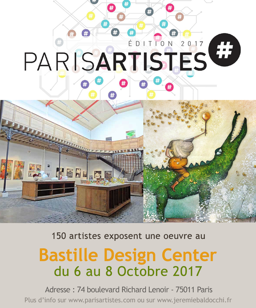 Exposition collective: Bastille Design Center – Paris du 6 au 8 Octobre 2017