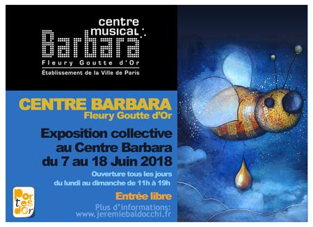 Exposition collective: Centre Barbara – Paris du 7 au 18 Juin 2018