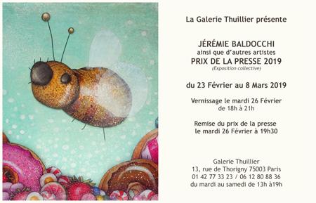 Exposition collective: Galerie Thuillier – Paris du 23 Fevrier au 08 Mars 2019