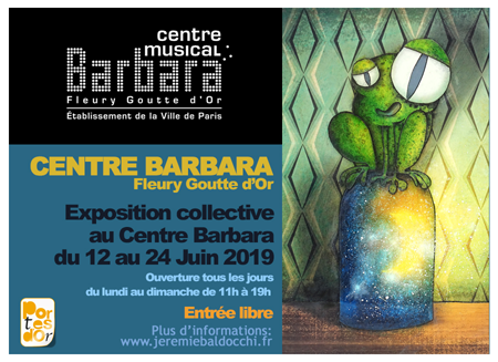 Exposition collective: Centre Barbara – Paris du 12 au 24 Juin 2019