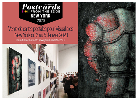 Exposition collective: Vente de carte postale d'artiste – Visual Aids – New-York – USA du 03 au 05 Janvier 2020