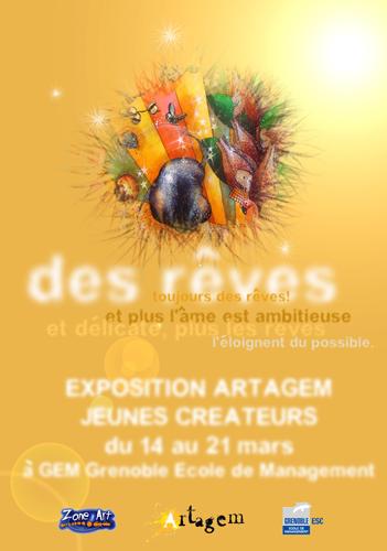 Exposition collective: École de Commerce et de Management – Grenoble du 14 au 21 Mars 2008