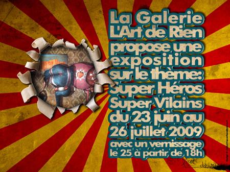 Exposition collective: Galerie l'Art de Rien – Paris du 23 Juin au 26 Juillet 2009