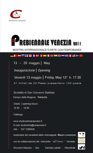Exposition collective: Prebiennale de Venise – Italie du 13 au 20 Mai 2011
