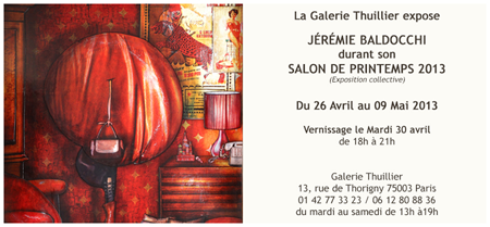 Exposition collective: Galerie Thuillier – Paris du 26 Avril au 09 Mai 2013
