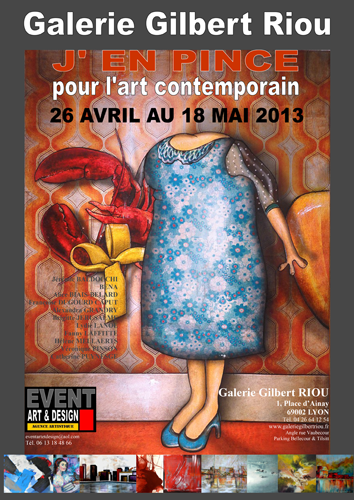 Exposition collective: Galerie Gilbert Riou – Lyon – France du 26 Avril au 06 Mai 2013