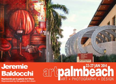 Exposition collective: Artpalmbeach – Miami – USA du 23 au 27 Janvier 2014