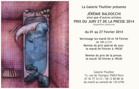 Exposition collective: Prix du Jury et de la Presse – Galerie Thuillier du 01 au 27 Fevrier 2014