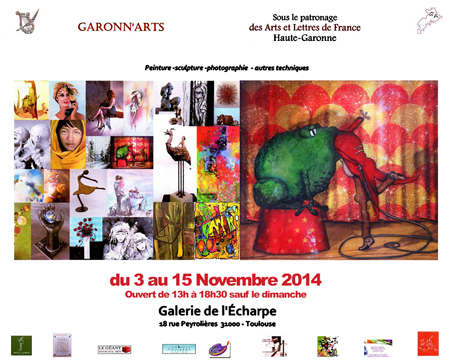 Group exhibition: Gallery L'Echarpe – Toulouse – France from 03 to 08 November 20144
