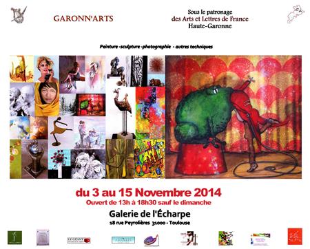 Exposition collective: Galerie de L'Echarpe – Toulouse du 3 au 8 Novembre 2014