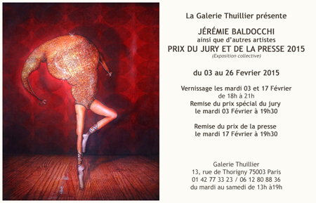 Exposition collective: Galerie Thuillier – Paris du 03 au 26 Fevrier 2015