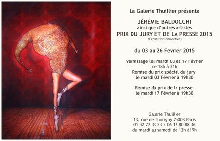 Exposition collective: Galerie Thuillier – Paris du 03 au 26 Fevrier 2015