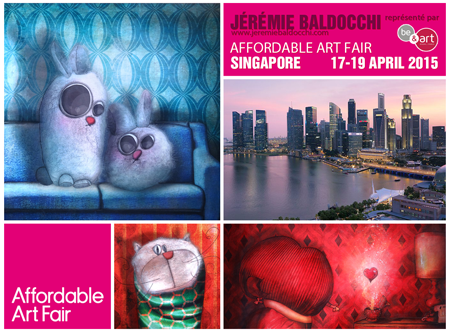 Exposition collective: Foire Affordable Art Fair – Singapour – Asie du 17 au 19 Avril 2015