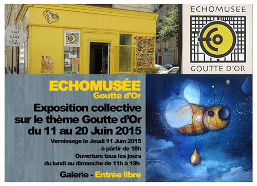 Exposition collective: Echomusée – Paris du 11 au 21 Juin 2015