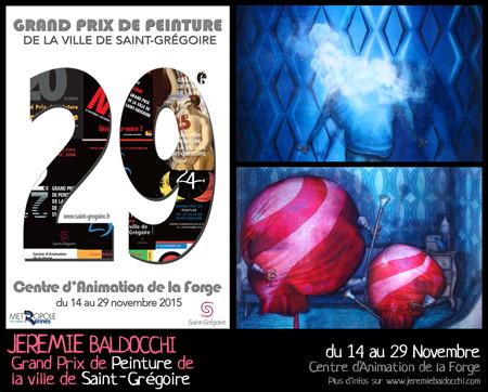 Exposition collective: Grand Prix de Peinture de Saint-Grégoire du 14 au 29 Novembre 2015