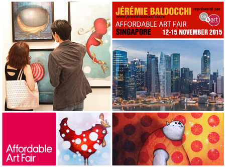 Exposition collective: Foire Affordable Art Fair – Singapour – Asie du 12 au 15 Novembre 2015