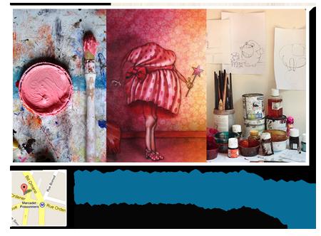 Exposition personnelle: Portes ouvertes de mon atelier 2016 – Paris les 11 et 12 Juin 2016