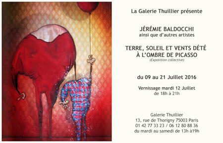 Exposition collective: À la manière de Picasso – Galerie Thuillier du 09 au 21 Juillet 2016