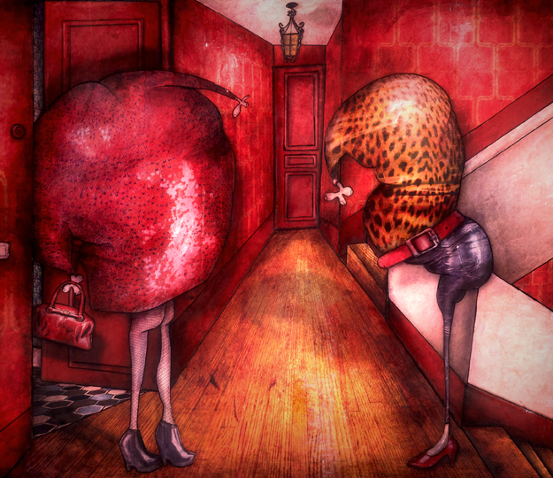 Peinture contemporaine: Prostituées