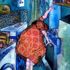 Peinture:La cuisine de la tante Restie