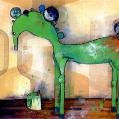 Peinture:Cheval peint (vert)