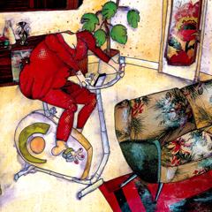 Peinture:Le sport d'appartement 1