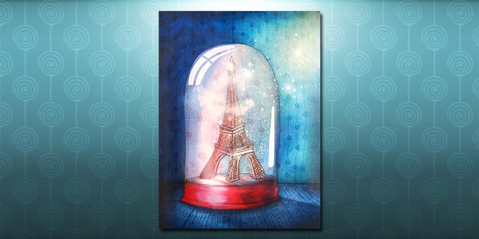 Tableau: Paris sous cloche