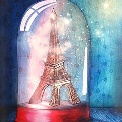 Peinture:Paris sous cloche