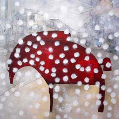 Peinture:Cheval enneigé