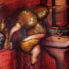 Peinture: Une culotte chaque jour de la semaine: Mardi c'est soirée au Folie's
