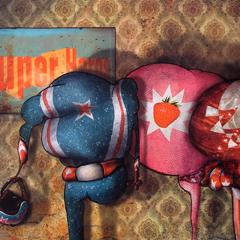Peinture: Le Club des Super-Héros
