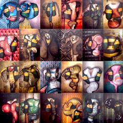 Peinture:30 celebrités pour les 30 ans de la Fnac Forum (Paris)