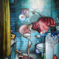 Peinture:Une culotte chaque jour de la semaine: Jeudi, jour des lessives
