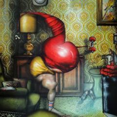 Peinture:Une culotte chaque jour de la semaine: Vendredi, c'est gymnastique