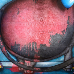 Peinture: Éléphant peint rose