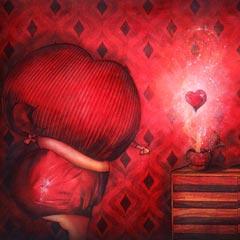 Peinture:Suzie un peu avant minuit