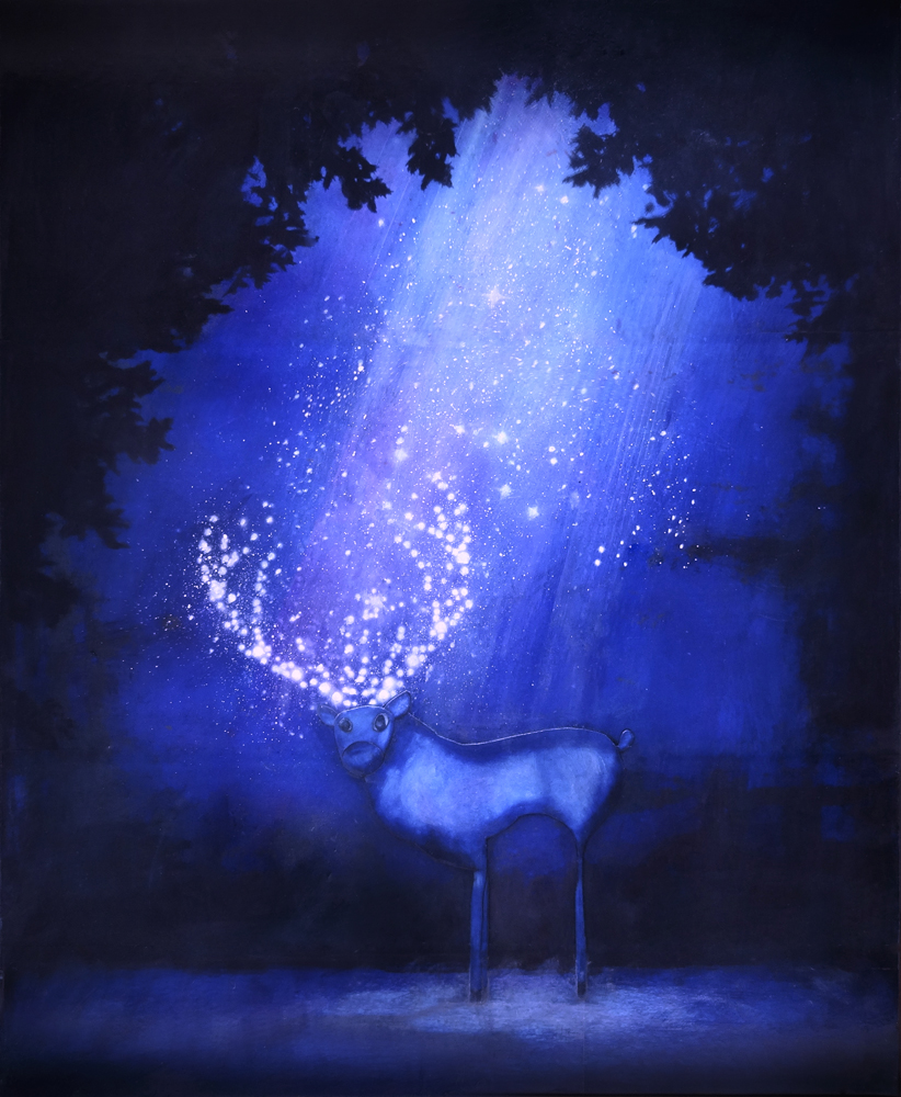 Tableau: Cerf de nuit