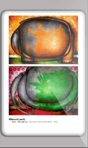 Book artistique du peintre Jeremie Baldocchi en Français au format PDF
