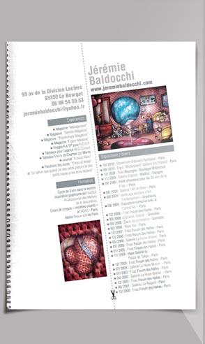 CV artistique de l'artiste peintre Jeremie Baldocchi en Français au format PDF
