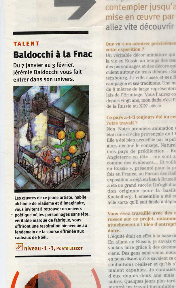 Article de presse Le Journal du Forum des Halles