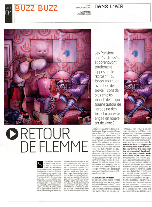 Illustration pour le Journal A nous Paris