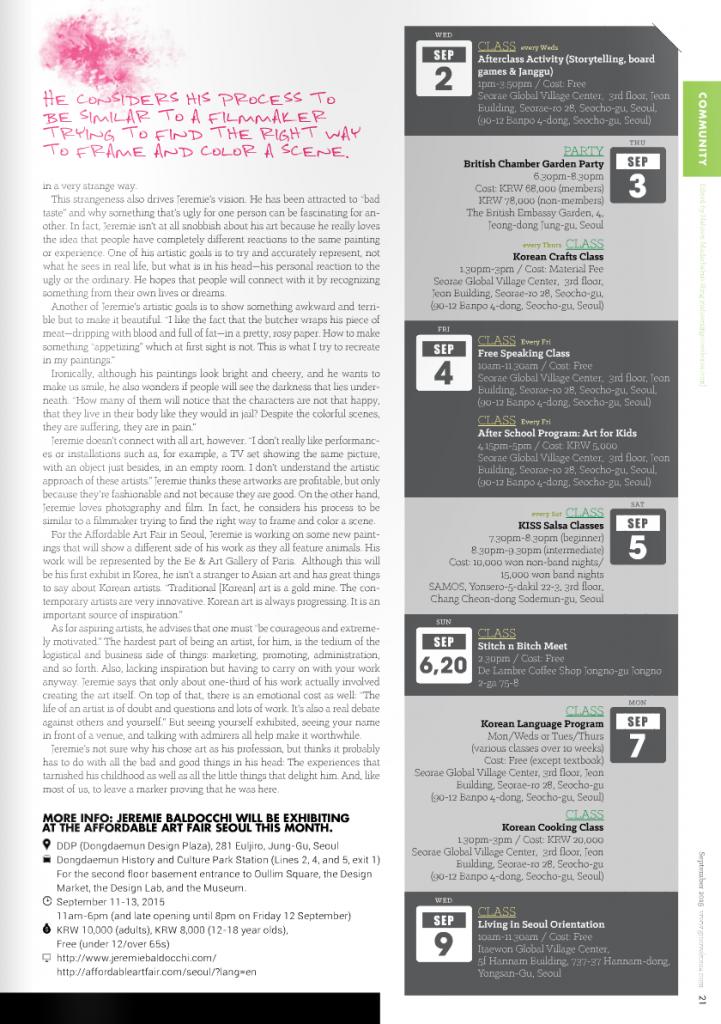 Magazine d'art Groove Korea Corée du sud